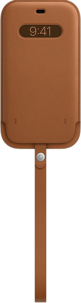 Чехол Apple Leather MagSafe Saddle Brown