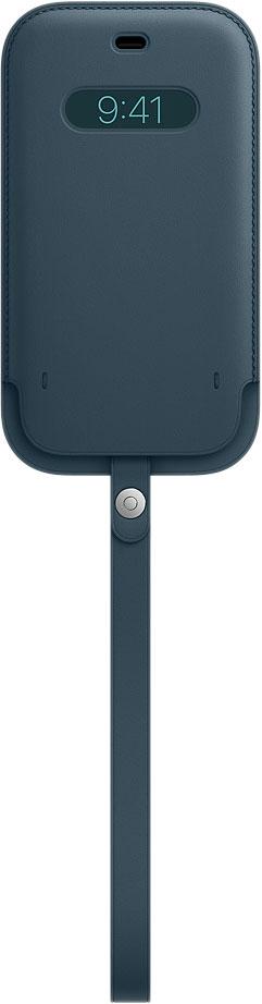 Чехол Apple Leather MagSafe Baltic Blue