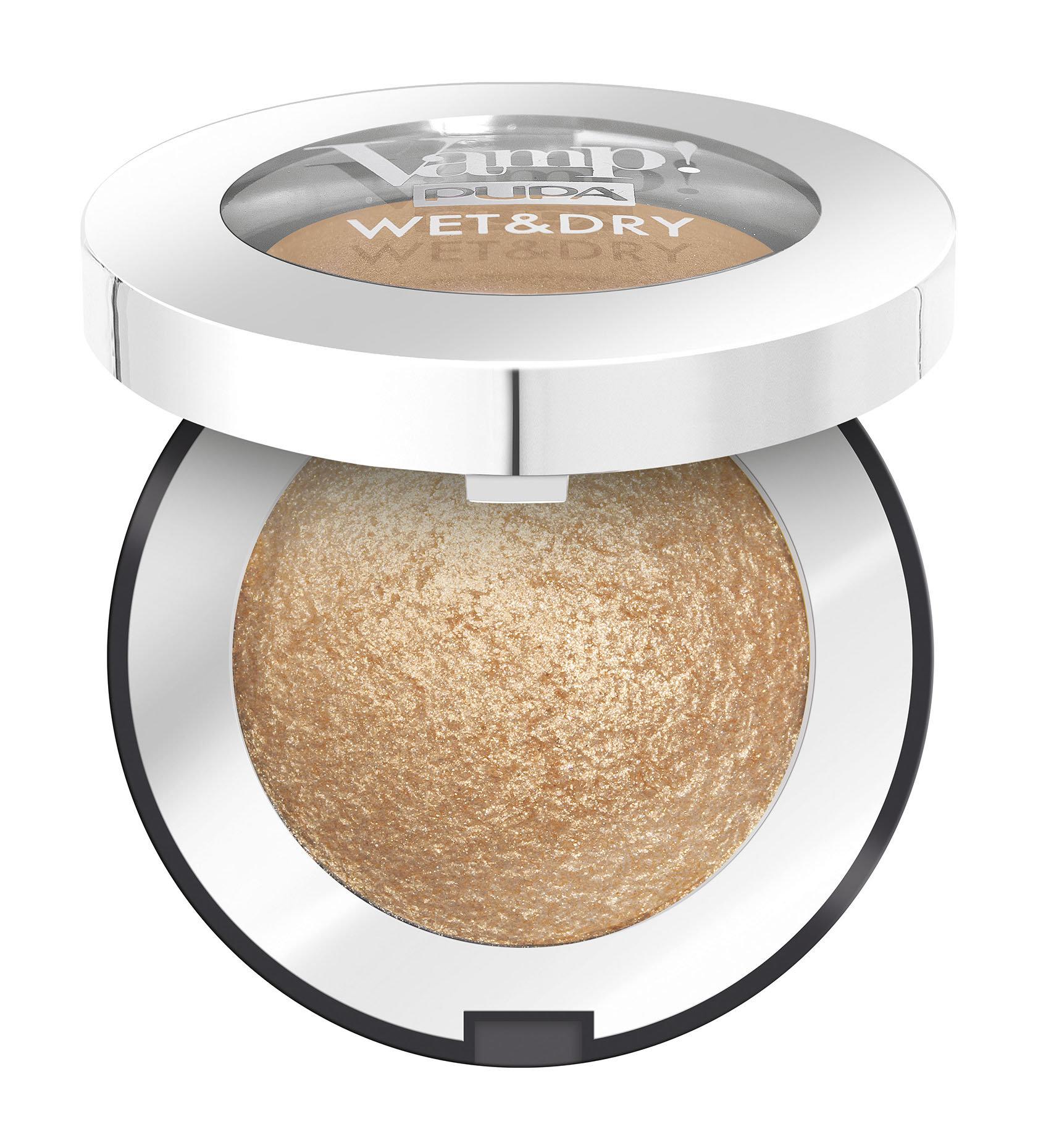 Купить Тени Pupa Vamp! Wet&Dry Eyeshadow 101 Precious Gold