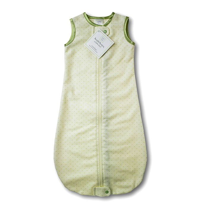 Спальный мешок SwaddleDesigns zzZipMe Sack Flannel Lt KW w/KW Dots 6-12м