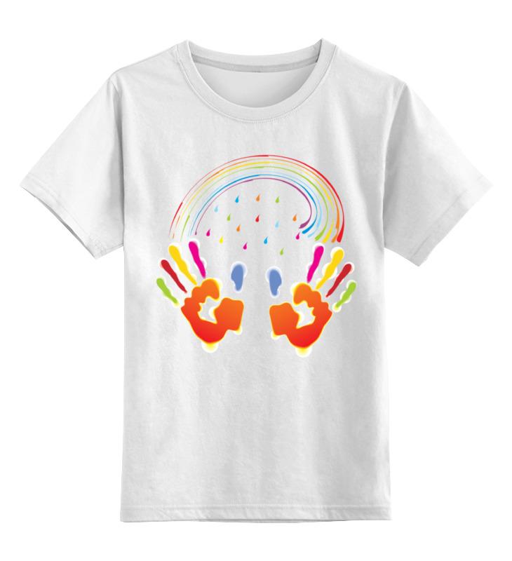 0000001467385, Детская футболка Printio Миру мир! цв.белый р.140,  - купить со скидкой