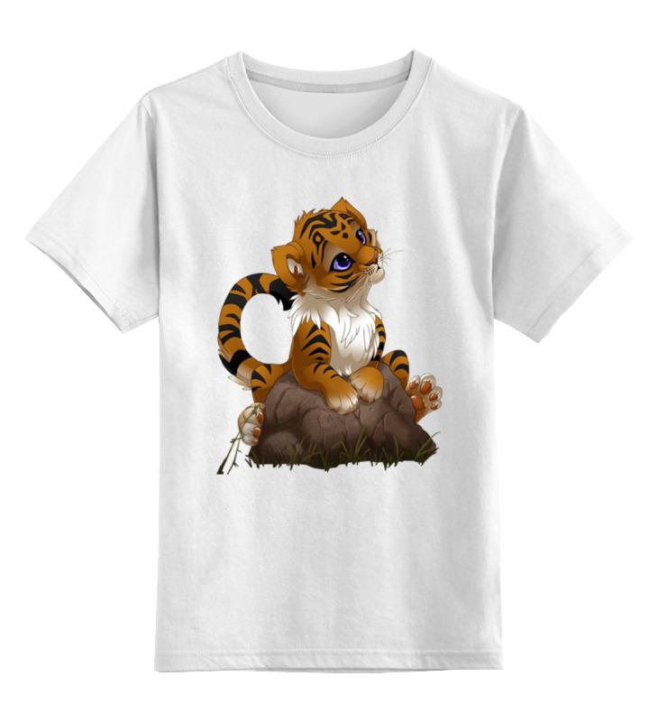 Детская футболка Printio Тигренок цв.белый р.140 0000001435339 по цене 790