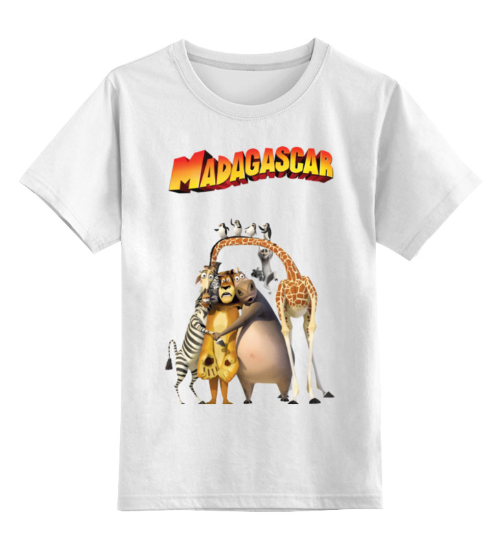 Детская футболка Printio Мадагаскар цв.белый р.140 0000001414047 по цене 790
