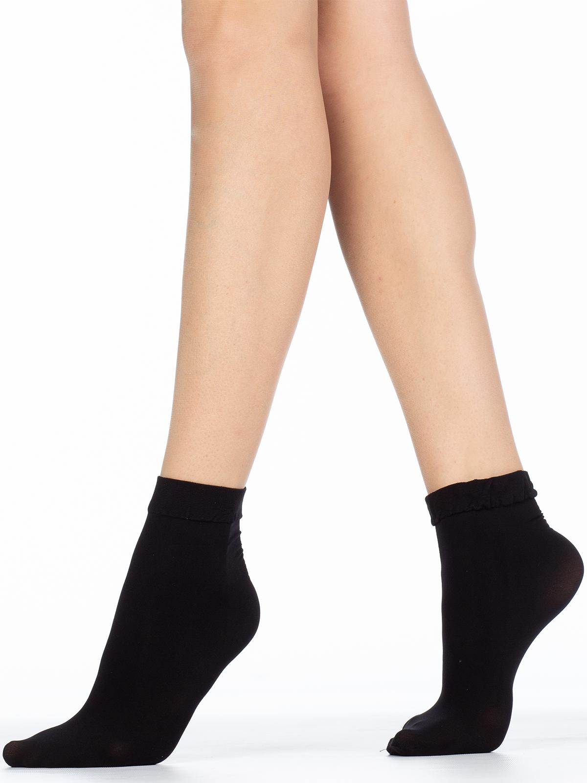 Капроновые носки женские Giulia BLUES 50 microfibra черные UNI