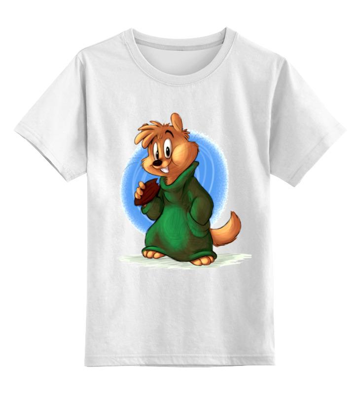 Детская футболка Printio Грызун цв.белый р.140 0000001314446 по цене 790