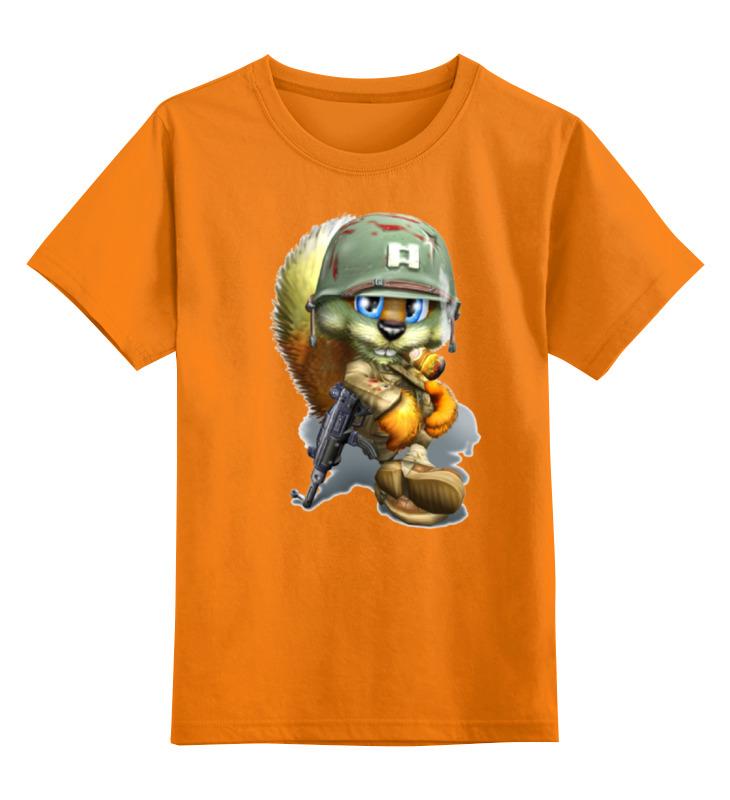 Детская футболка Printio Лисенок солдат цв.оранжевый р.140 0000001314432 по цене 990