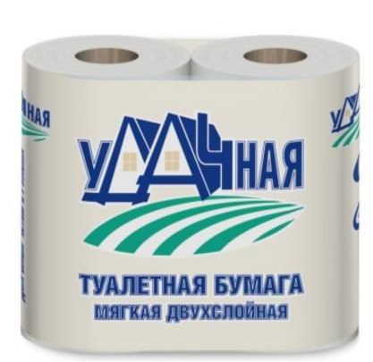 Купить Бумага туалетная Veiro Удачная , двухслойная, 4 штуки