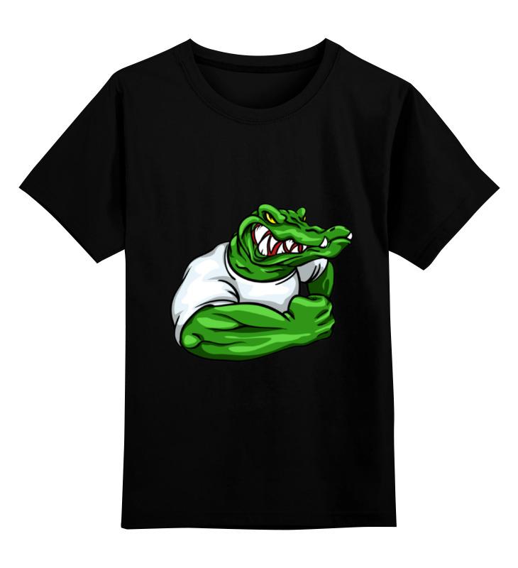 Детская футболка Printio Крокодил цв.черный р.140 0000001147813 по цене 1 190