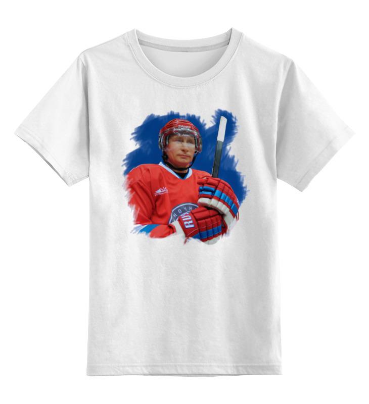 Купить 0000000901961, Детская футболка Printio Putin цв.белый р.140,