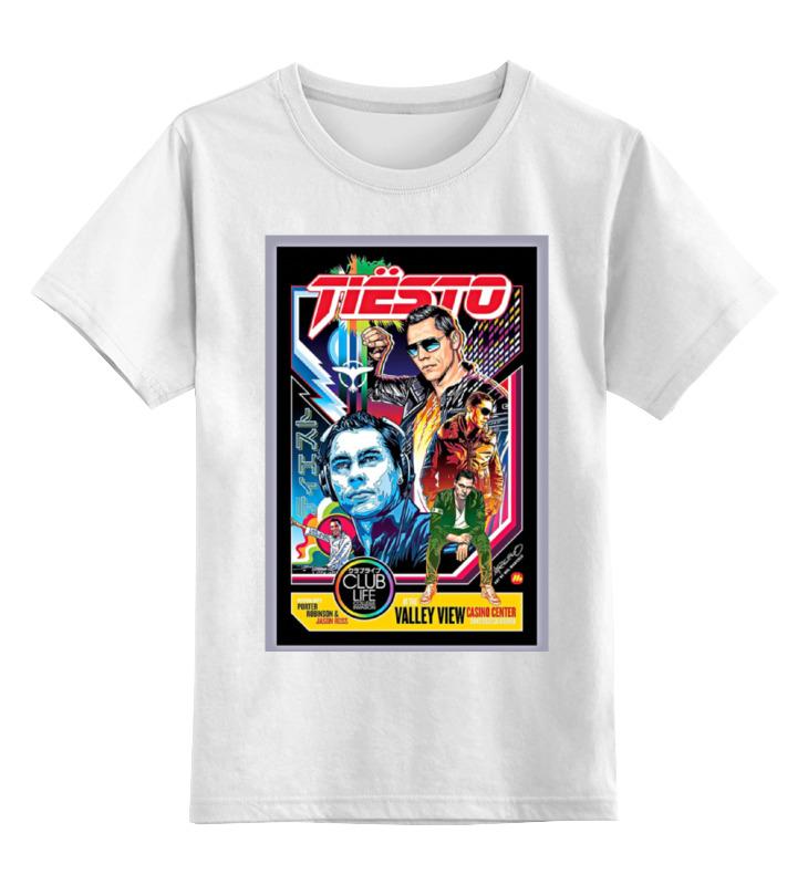 Купить 0000000841446, Детская футболка Printio Tiesto цв.белый р.140,