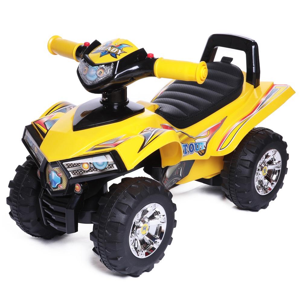 Купить Каталка детская Super ATV New, Каталка детская Babycare Super ATV Жёлтый (Yellow), кожаное сиденье, Baby Care,