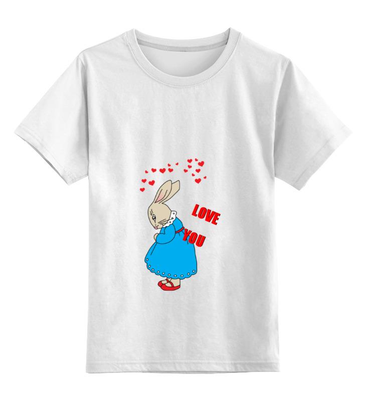 Детская футболка Printio Rabbit_woman цв.белый р.164 0000000795070 по цене 790