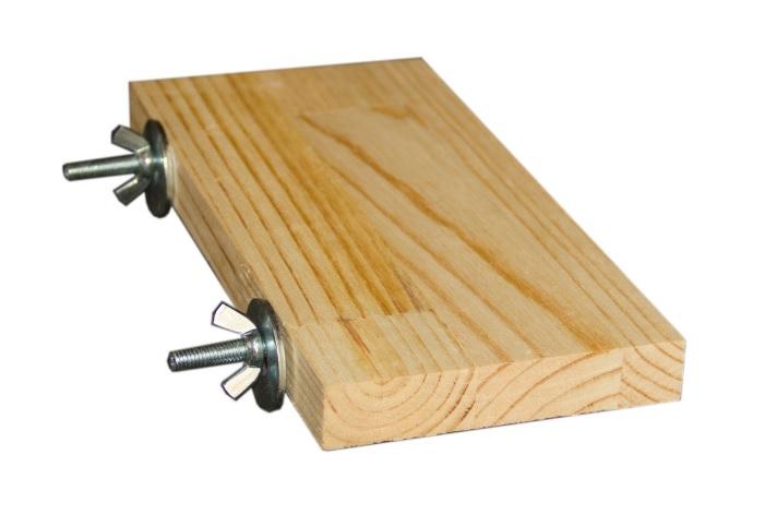 Игрушка для грызунов ПарротсЛаб Деревянная полочка, дерево,