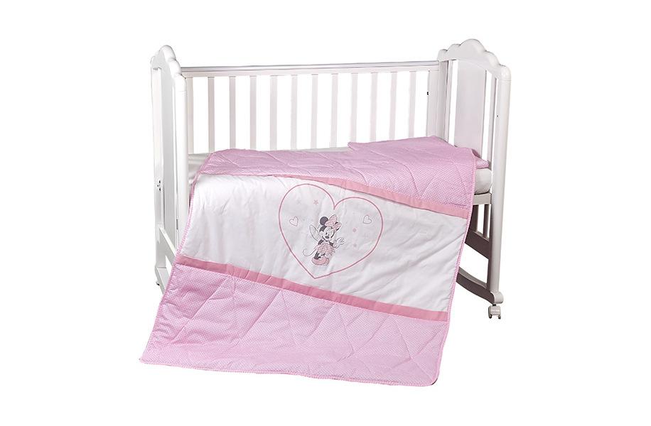 Комплект постельного белья Polini kids Disney Baby Минни Маус, розовый