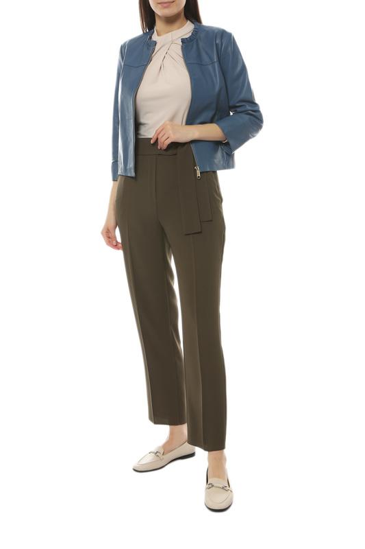 Кожаная куртка женская Max&co 64415119_DANILO_4 синяя 38
