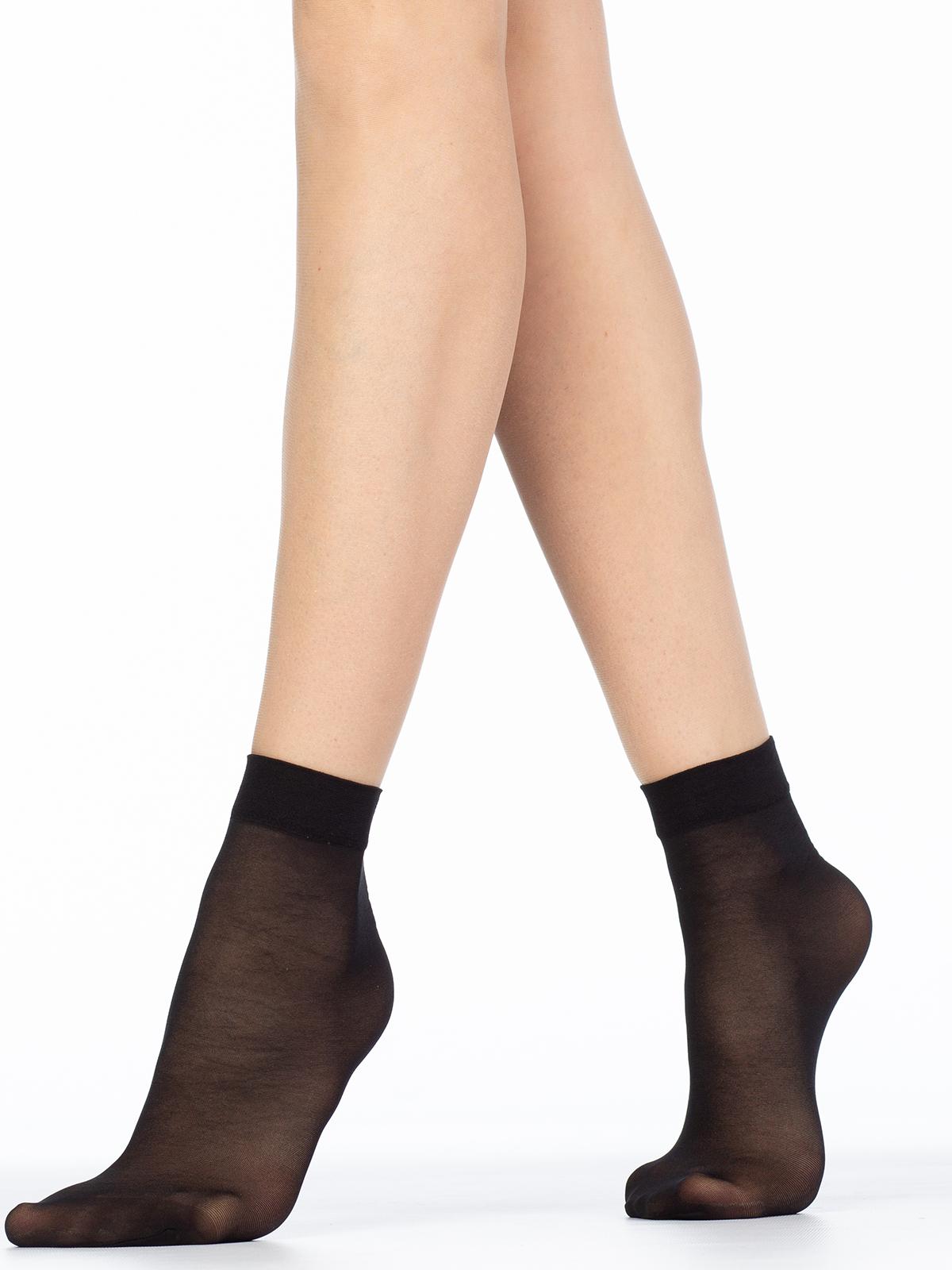 Капроновые носки женские Giulia EASY 40 lycra (2 п.) бежевые UNI