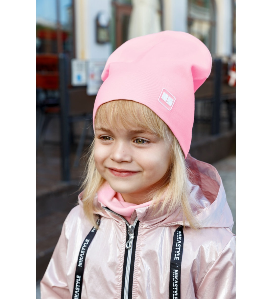 Комплект шапка + снуд для девочек NikaStyle