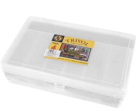 Коробка, 2 яруса, большая, с микролифтом, прозрачный,