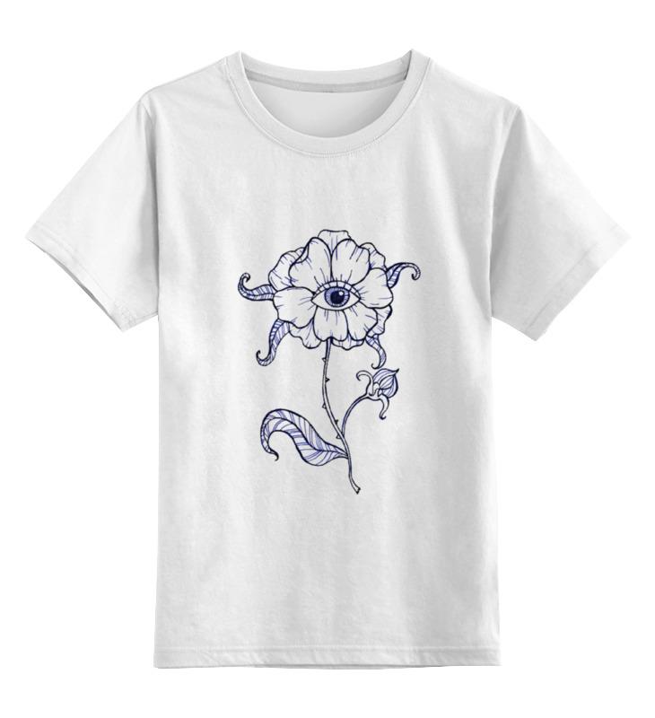 Купить 0000000791190, Детская футболка Printio eye цв.белый р.104,