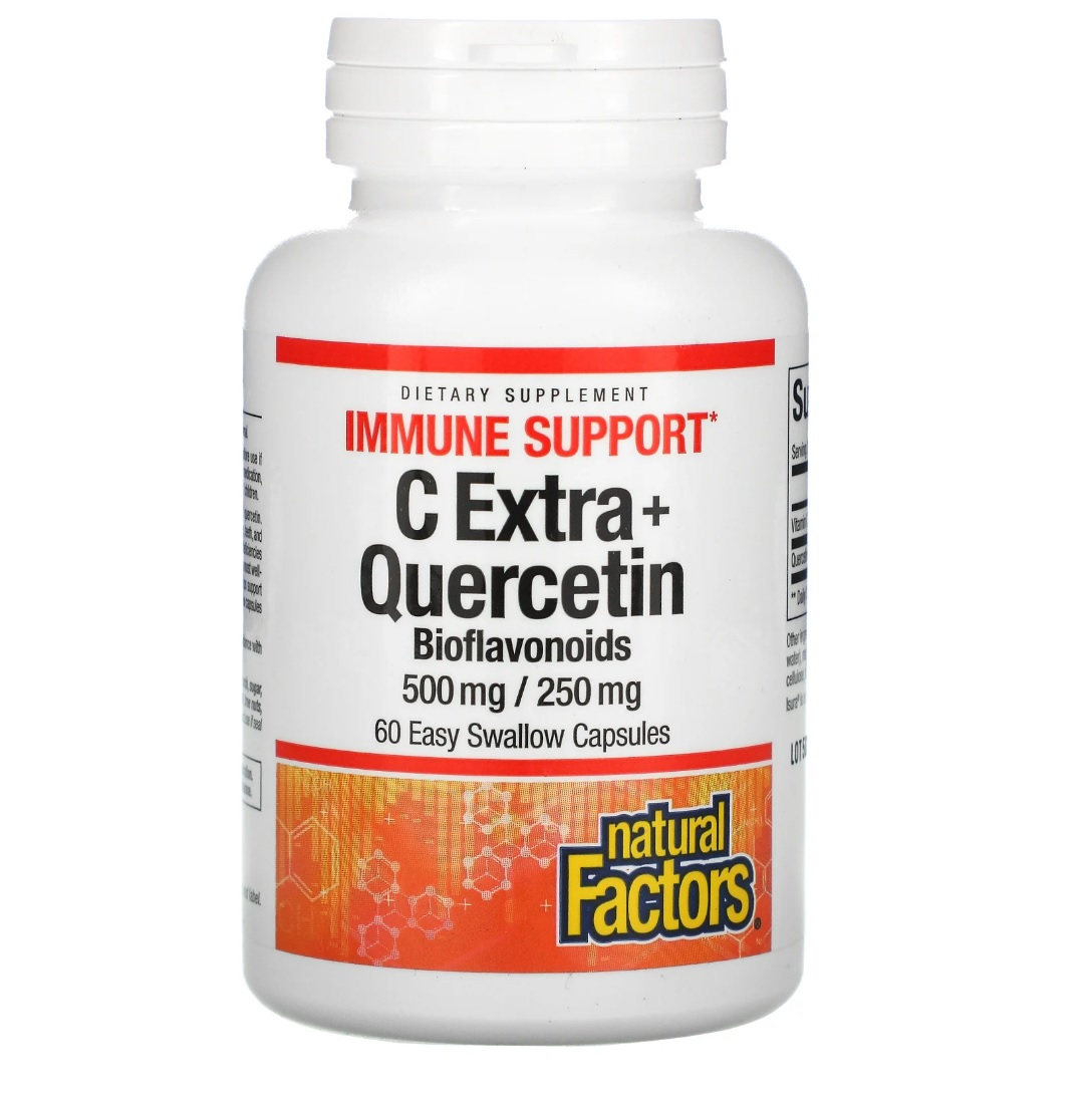 Купить C Extra + Quercetin Natural Factors капсулы 60 шт.