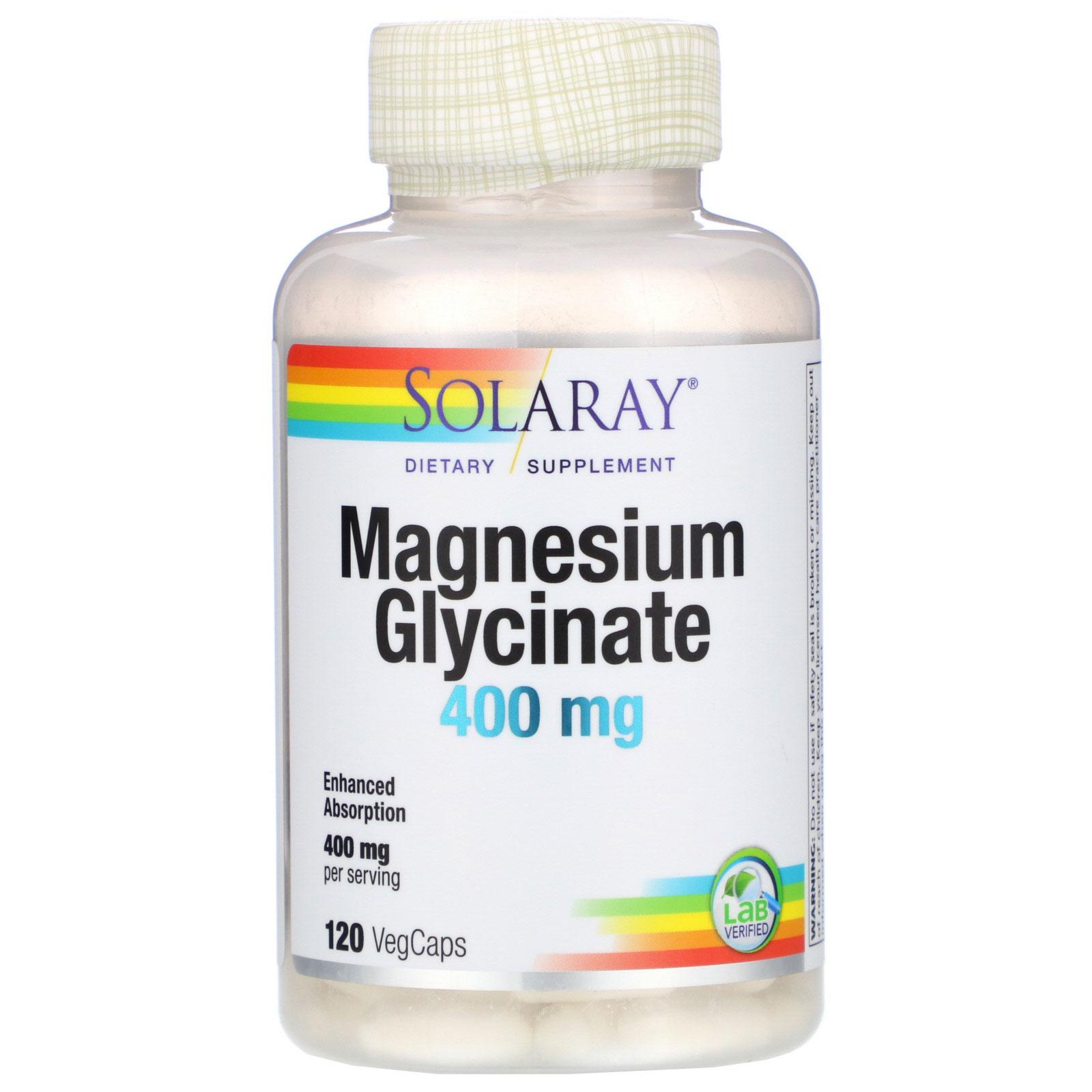 Купить Magnesium Glycinate Solaray 400 мг капсулы 120 шт.