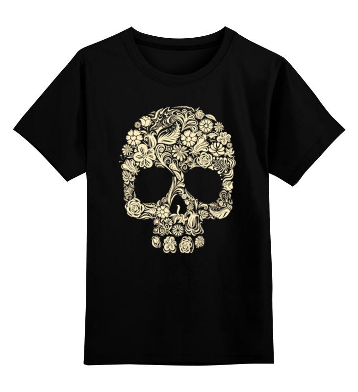 Купить 0000000787503, Детская футболка Printio Череп цв.черный р.104,