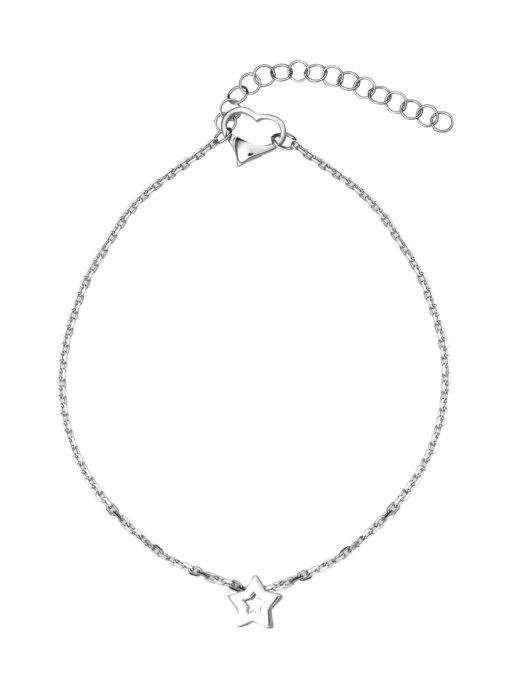 Браслет женский TOP CRYSTAL 40871098 из серебра, р. 23