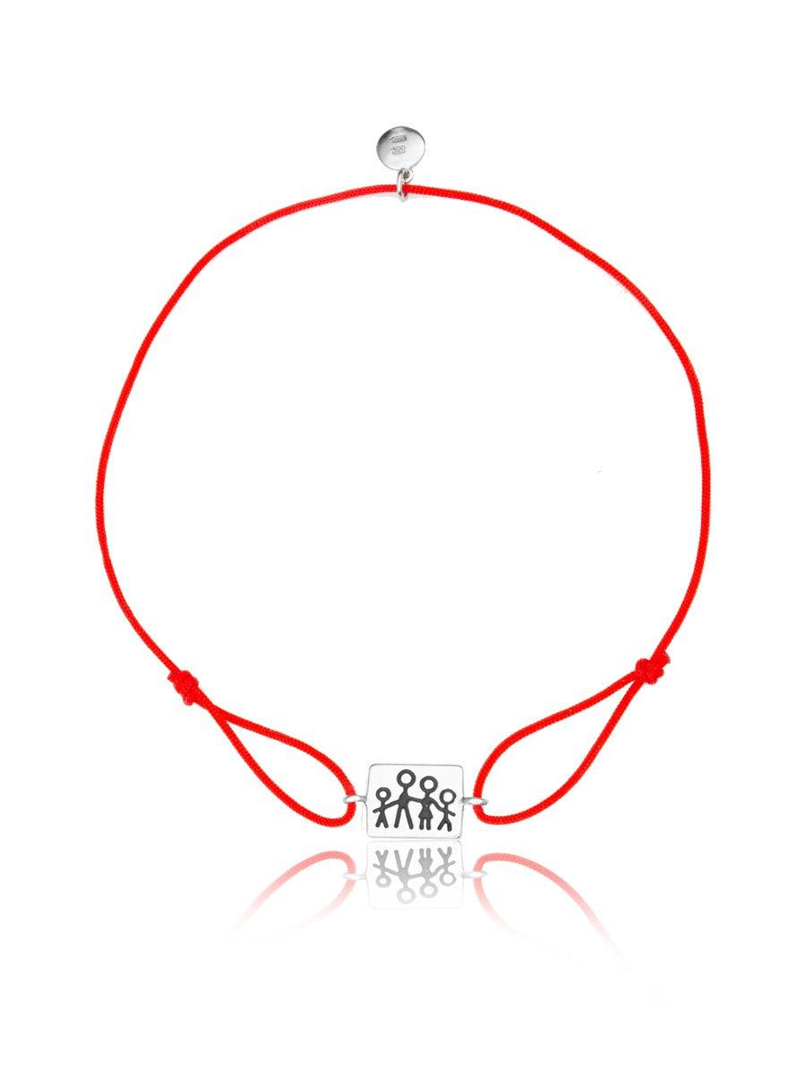 Браслет TOP CRYSTAL 4077559997003 на красной нити с серебром