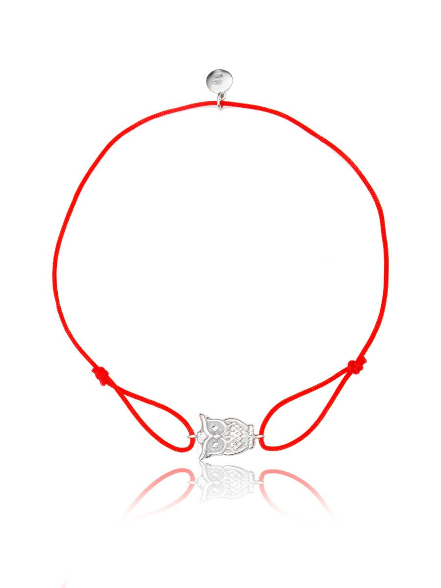 Браслет TOP CRYSTAL 4077559047003 на красной нити с серебром