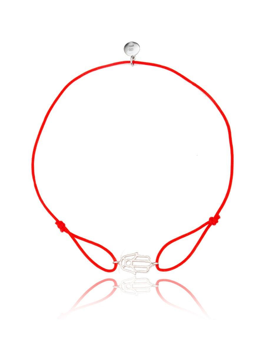 Браслет TOP CRYSTAL 4077558607003 на красной нити с серебром