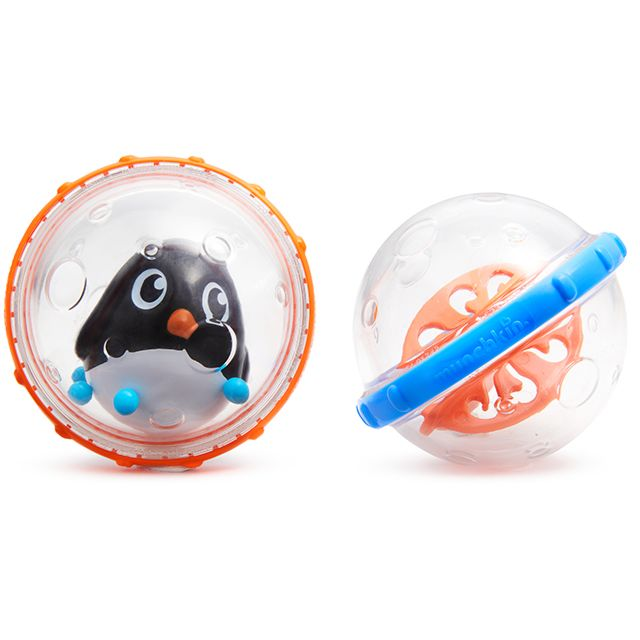 Купить Игрушка для ванны Munchkin пузыри-поплавки пингвин, 2 шт.,