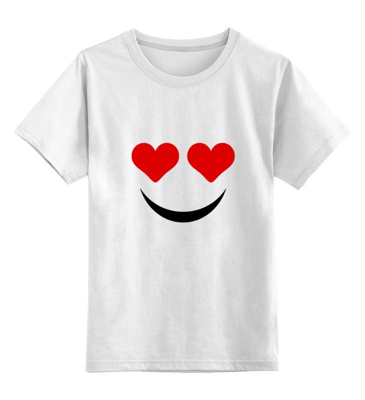 Купить 0000000795206, Детская футболка Printio Футболка улыбка цв.белый р.128,