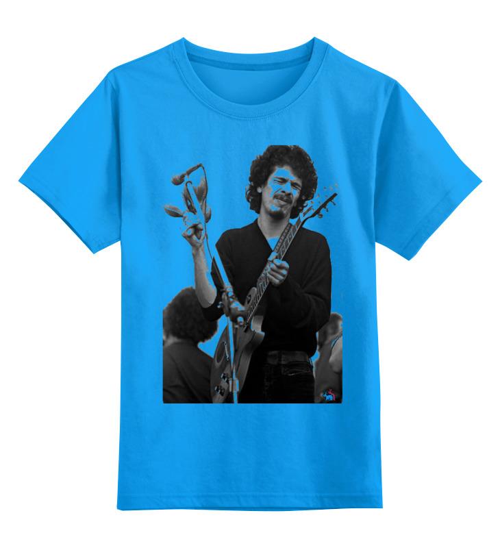 Детская футболка Printio Santana цв.голубой р.128 0000000794227 по цене 990
