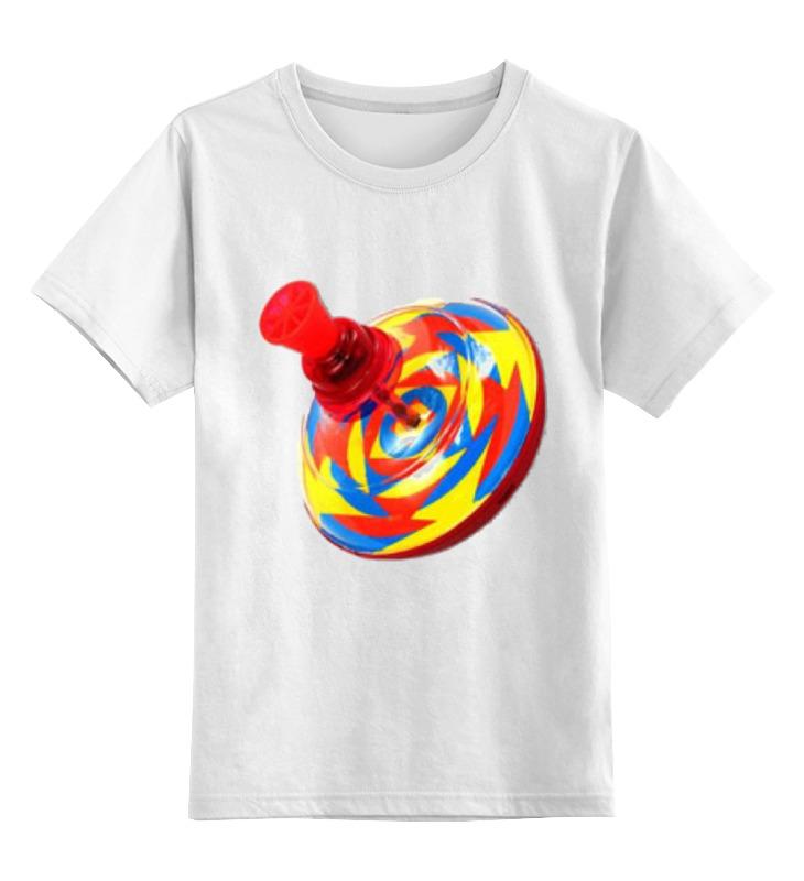 Купить 0000000791438, Детская футболка Printio юла цв.белый р.128,