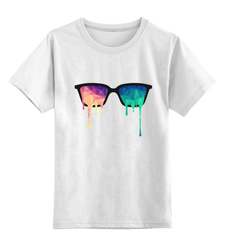 Детская футболка Printio Очки психоделики цв.белый р.128 0000000787919 по цене 790