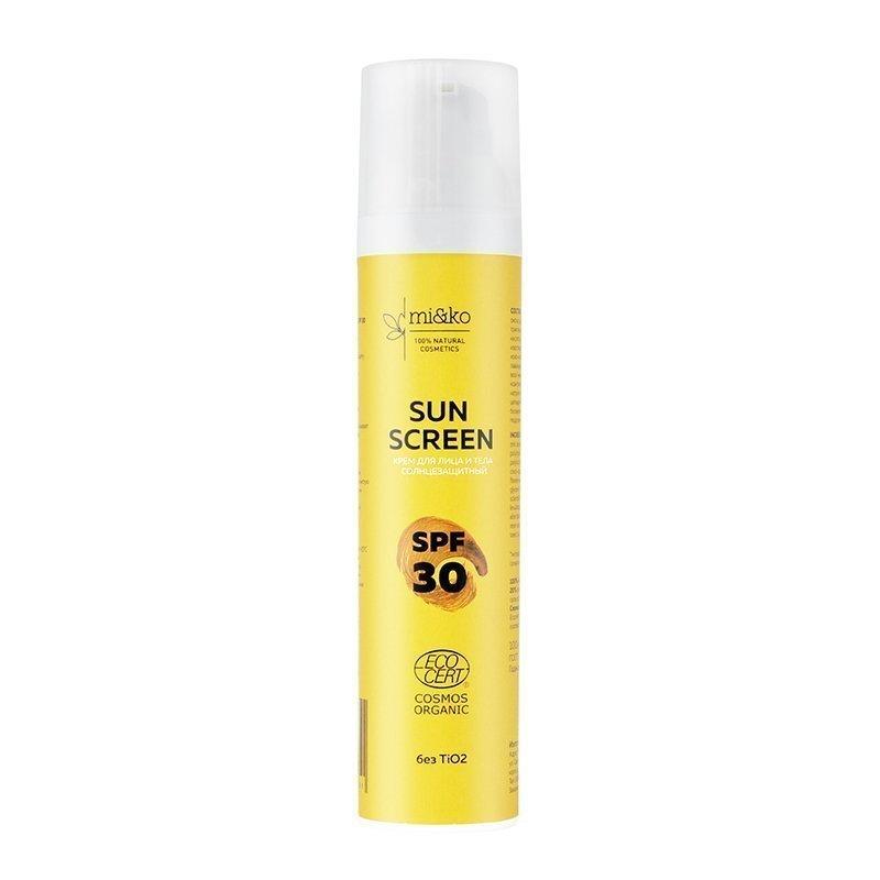 Купить Крем для лица и тела солнцезащитный МИКО Sun Screen SPF30 100мл, Мико