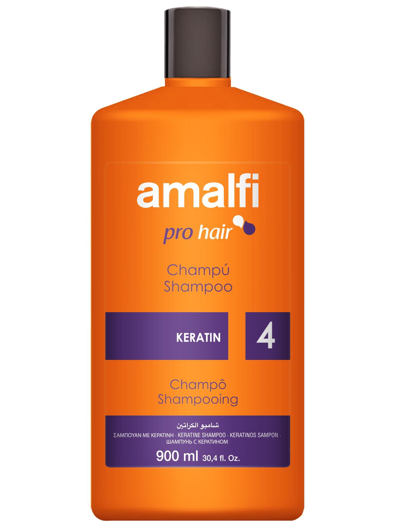 Купить Шампунь для ухода за волосами AMALFI keratin 900 мл, Amalfy