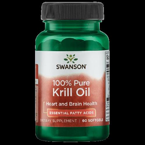 Купить 100% Pure Krill Oil Swanson 500 mg капсулы 60 шт.