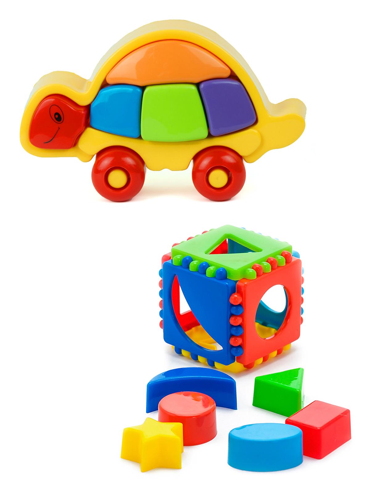 Купить Развивающие игрушки Karolina Toys Логическая черепашка+Кубик логический малый,