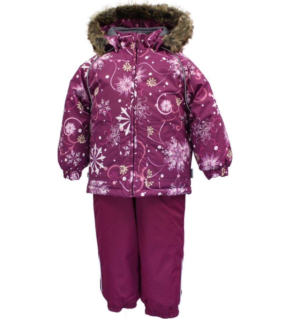 Комплект куртка + полукомбинезон для девочек Huppa