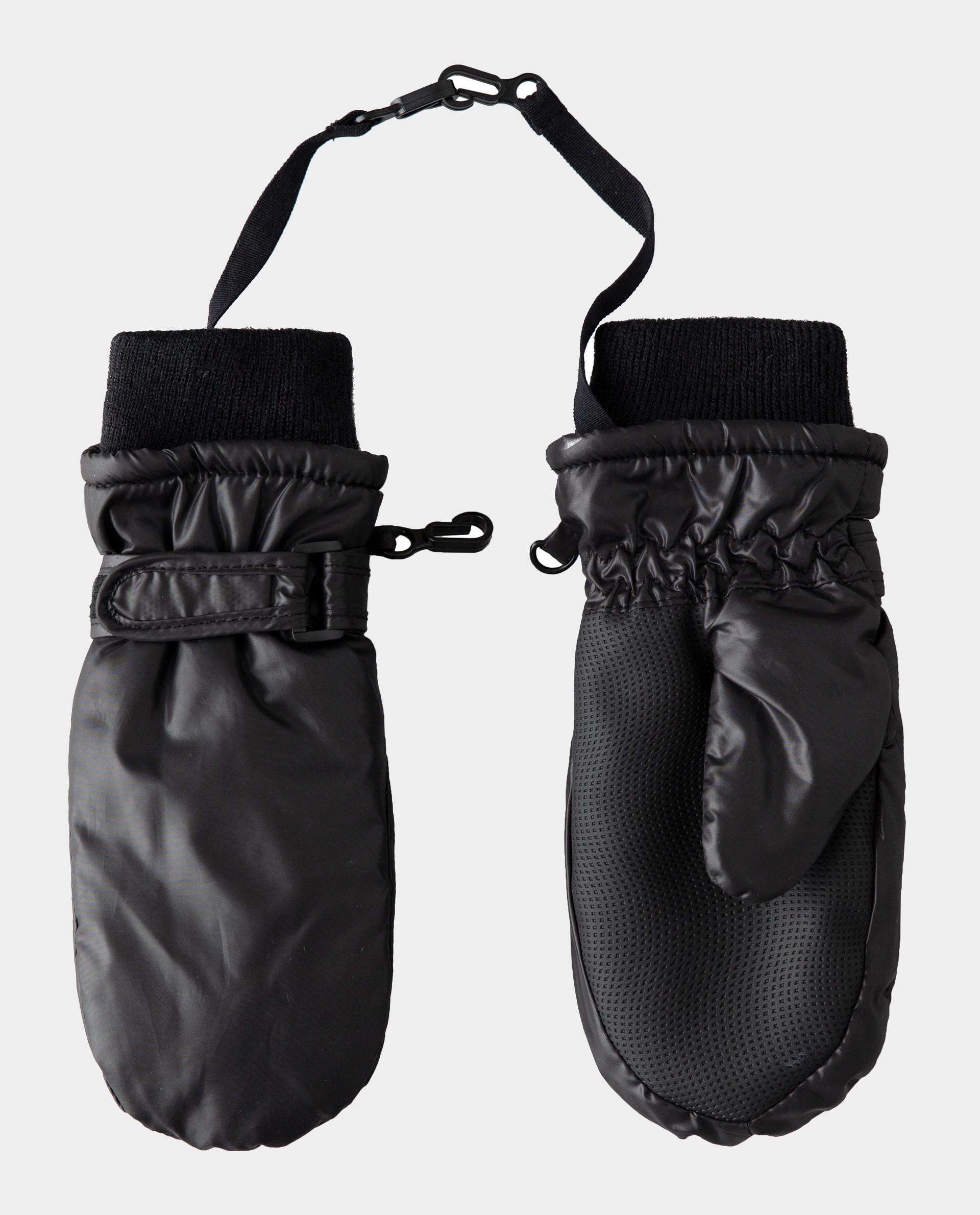 Черные варежки плащевые Gulliver 22002GMC7603, размер 12