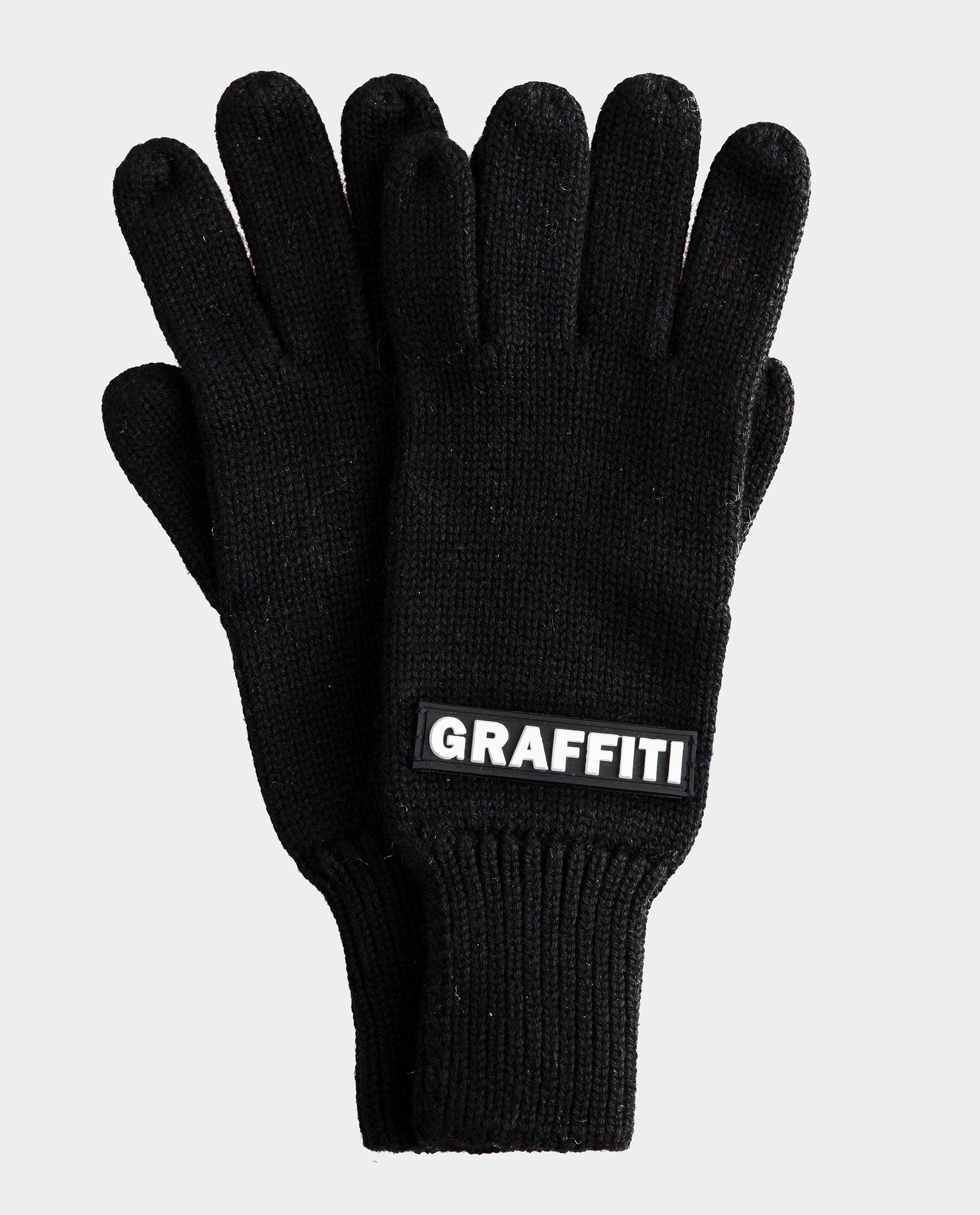Черные перчатки вязаные Gulliver 22012BJC7603, размер 16