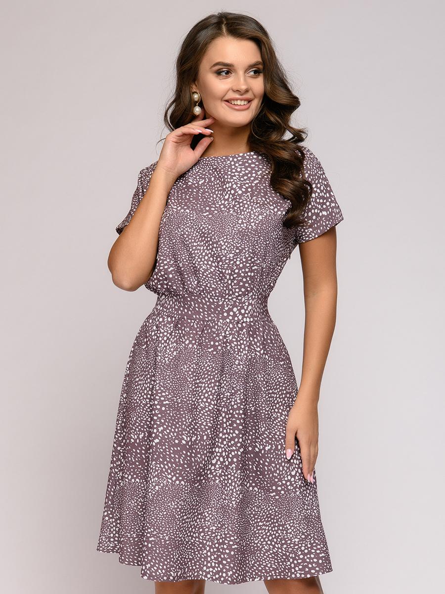 Повседневное платье женское 1001dress 0112001-01083CF бежевое 44
