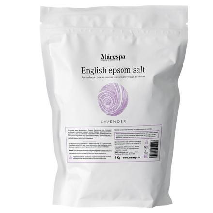 Купить Английская соль для ванн Marespa Эпсом «Лаванда», 4 кг