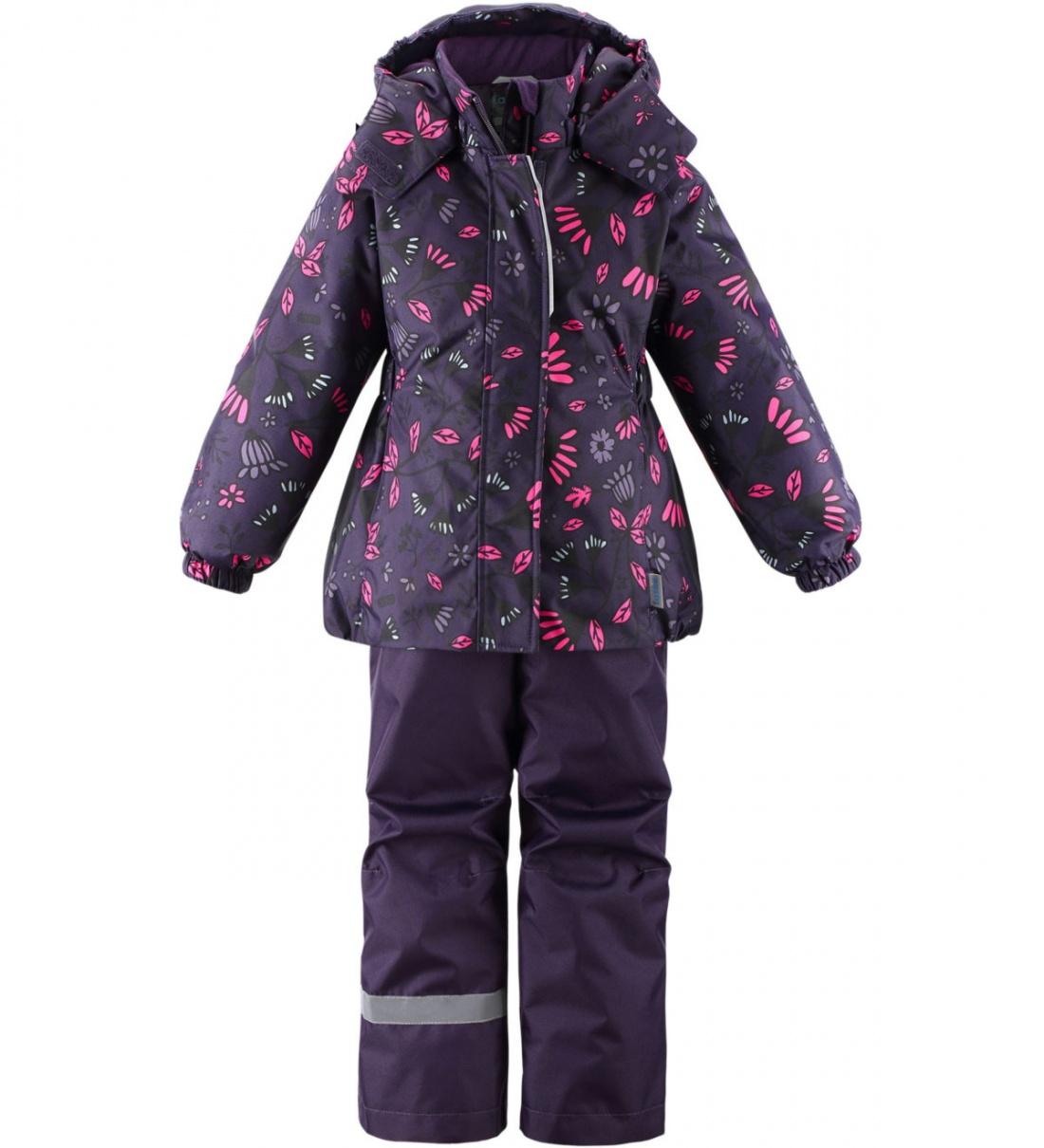 Купить 723734-4952, Комплект куртка + брюки для девочек Lassie цв. фиолетовый р-р. 122,