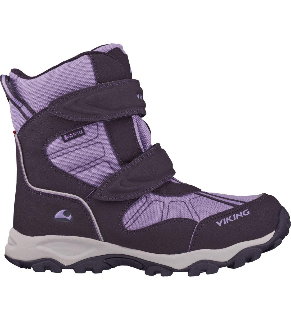Купить 3-82500-8316, Ботинки для девочек Viking цв. фиолетовый р-р. 37,