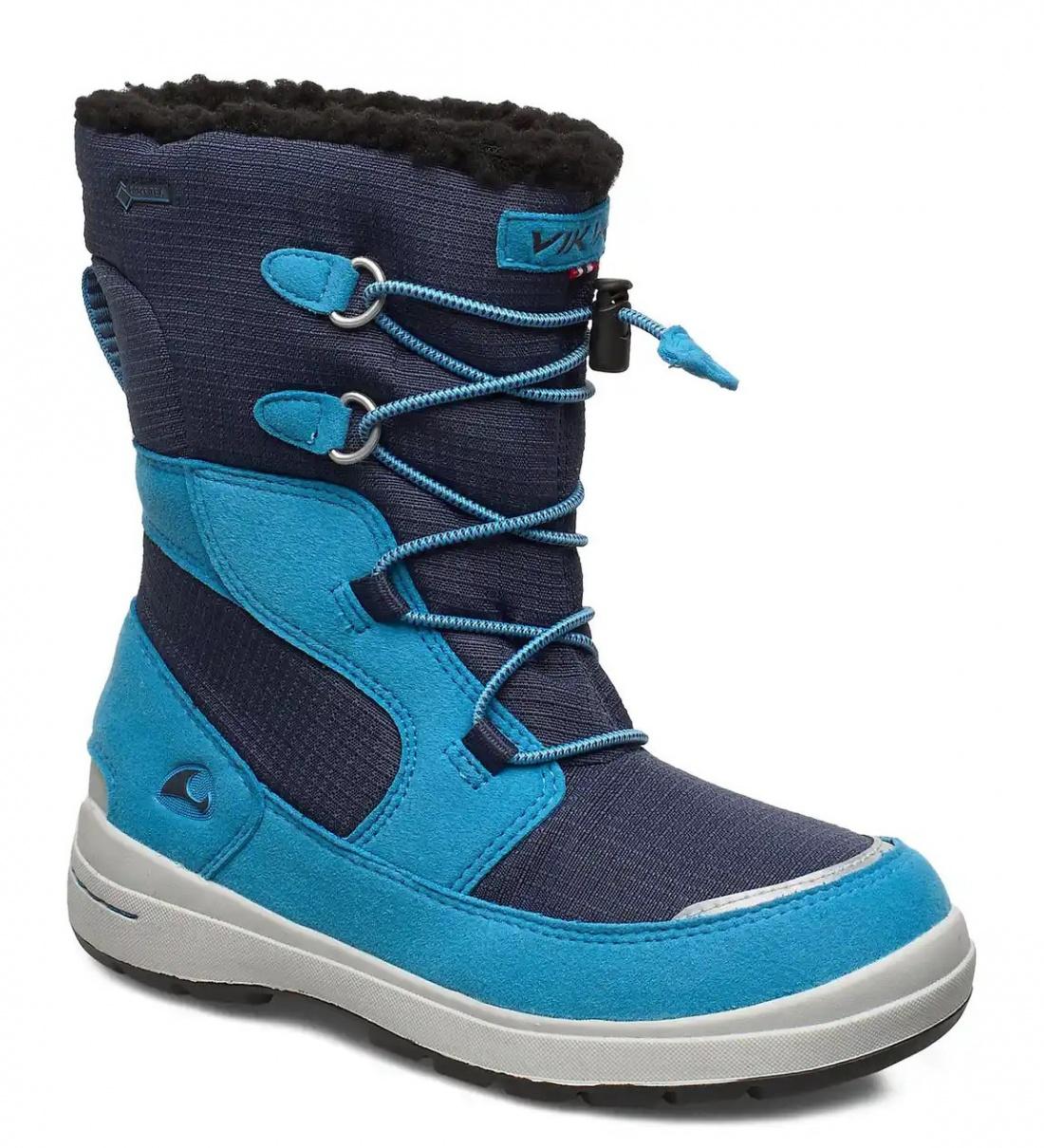 Купить 3-86030-03505, Ботинки для детей Viking цв. синий р-р. 27,