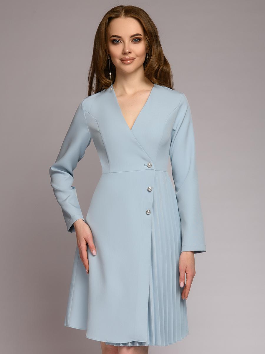 Повседневное платье женское 1001dress 0112001-30070LB голубое 42