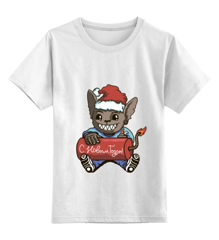 Купить 0000000793998, Детская футболка Printio new year цв.белый р.164,