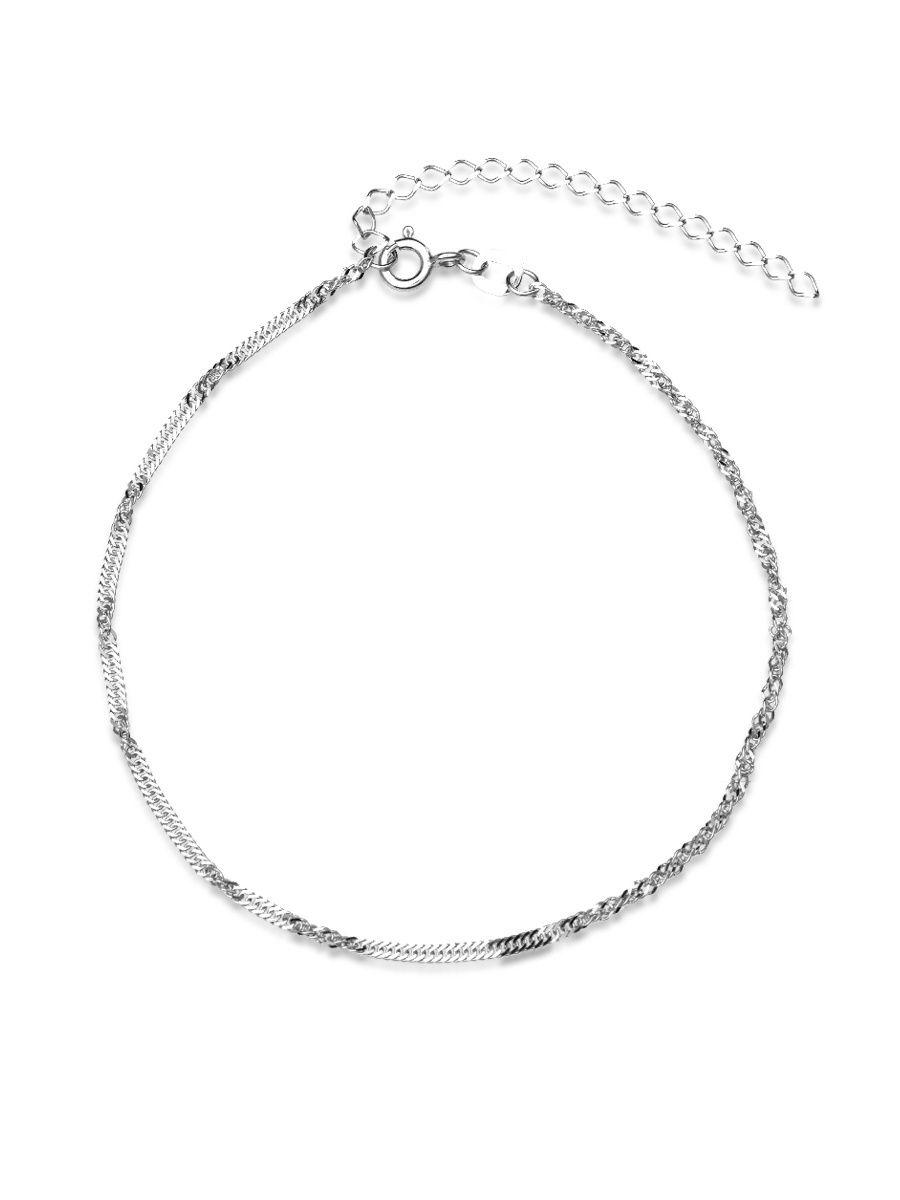 Браслет женский TOP CRYSTAL 40675693 из серебра, р. 17